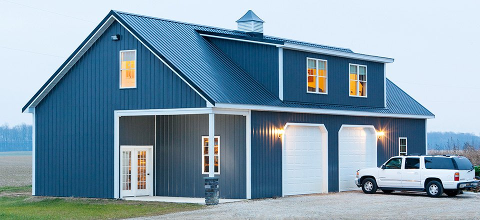 Custom modular home builders green diamond builders for Residential pole barn homes