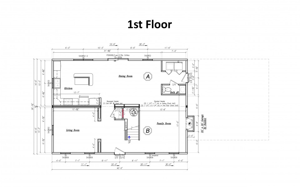 Maryland Style Home Floorplan