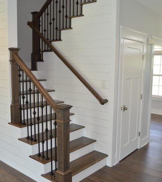 Wyoming Style Home Stairs